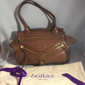 Botkier leather shoulder bag with gold accents